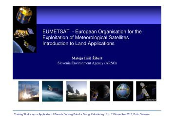 Irsic Zibert - Introduction to EUMETSAT products - DMCSEE