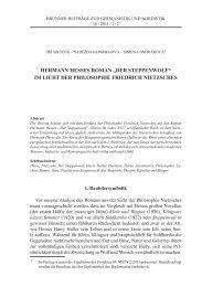 """Hermann Hesses roman """"Der steppenwolf"""" im licHt Der pHilosopHie ..."""