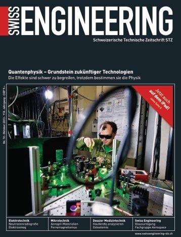 STZ_10_2013 TS Quantenphysik - D-PHYS News - ETH Zürich
