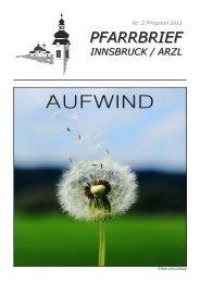 PFARRBRIEF - Pfarrgemeinde Innsbruck-Arzl