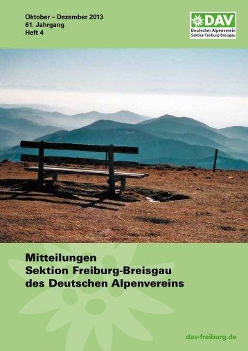 4. Quartal 2013 - Deutscher Alpenverein Sektion Freiburg im Breisgau