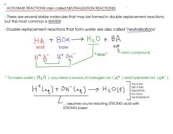 Lab X - Double Replacement Reactions