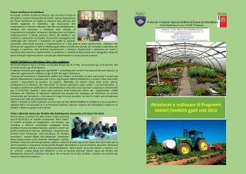 Aktivitetet e realizuara të Programit MASHT/DANIDA gjatë vitit 2012