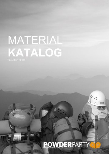 MATERIAL KATALOG - Powder Party Bergsport Karlsruhe eV