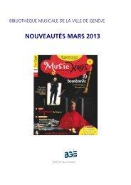 liste bimestrielle mars 2013 - Ville de Genève