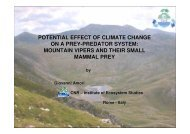 Potential Effect of Climate Change on a Pre-Predator ... - Ev-K2-CNR
