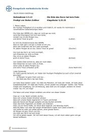 Die Güte des Herrn hat kein Ende (Stefan Zolliker, 4.3.2012)