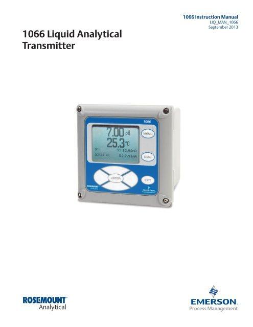 1066 Liquid Analytical Transmitter - Emerson Process Management
