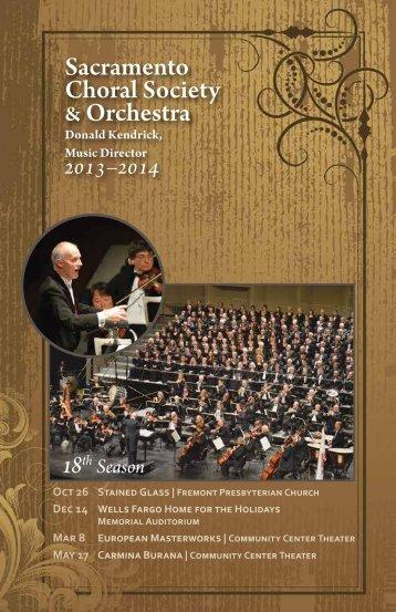 Sacramento Choral Society & Orchestra - The Sacramento Choral ...