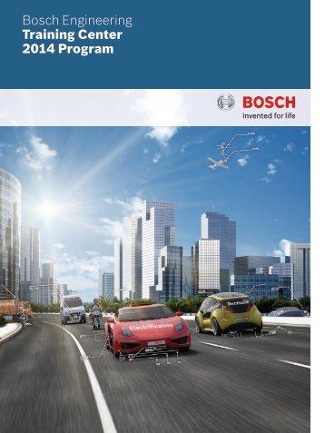 Training information 2014 (PDF 1.25 MB) - Bosch Engineering