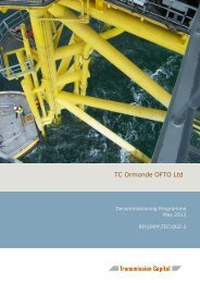 Decommissioning Programme May 2013 - Transmission Capital