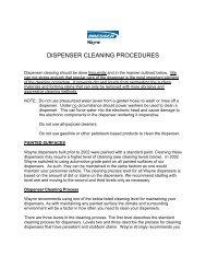 DISPENSER CLEANING PROCEDURES - SMO Motor Fuels