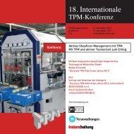18. Internationale TPM-Konferenz 12.-13. November 2013