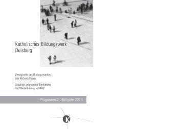 Programm 2/2013 Erwachsenenbildung (Katholisches Bildungswerk)