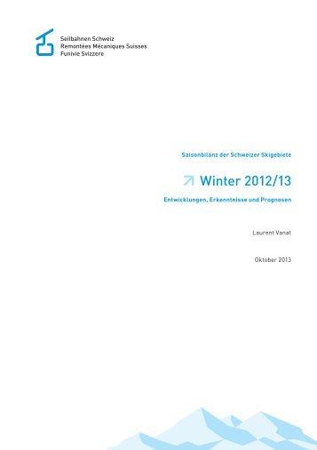 Winter 2012/13 - Seilbahnen Schweiz