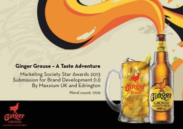 The Famous Grouse in Russia Ginger Grouse – A Taste Adventure