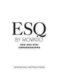 ESQ ANA-DIGI CHRONOGRAPHS OPERATING ... - Movado