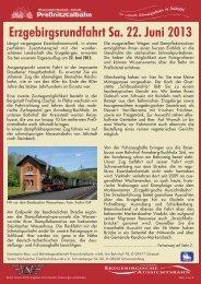 Erzgebirgsrundfahrt Sa. 22. Juni 2013 - Eisenbahnmuseum ...