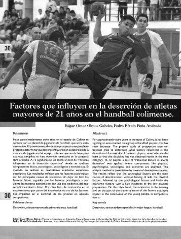 Factores que influyen en la desercion de atletas mayores de 21 ...
