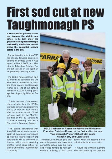 First sod cut at new Taughmonagh Primary School - Belfast ...