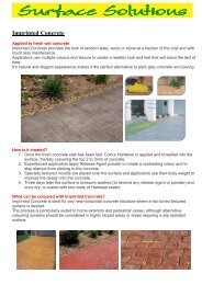 Imprinted Concrete - Surface Solutions