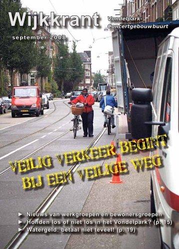 VEILig verkeer begint bij een veilige weg - Wijkcentrum Vondelpark ...