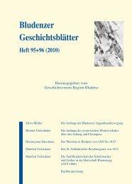 Bludenzer Geschichtsblätter 95+96 (2010) - Vorarlberg