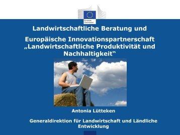 Landwirtschaftliche Produktivität und Nachhaltigkeit - IALB-Tagung ...