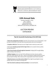 2013 Gala Auction Preview Catalog - leef