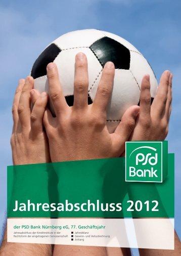 Jahresabschluss 2012 der PSD Bank Nürnberg eG