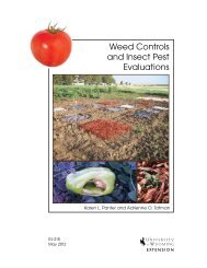 Weed Controls and Insect Pest Evaluations