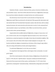 The Road to Afghanistan - George Washington University