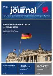 Bund + Länder Journal 02/2013 - Ver.di