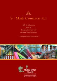 St. Mark Contracts PLC - Merchant Place Corporate Finance