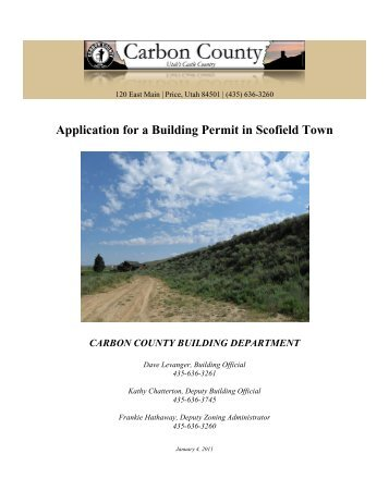 Application for a Building Permit in Scofield Town - Carbon County ...