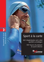Broschüre Sport à la carte - Stadt Biel