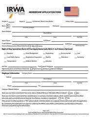 US Application 2014 - International Right of Way Association