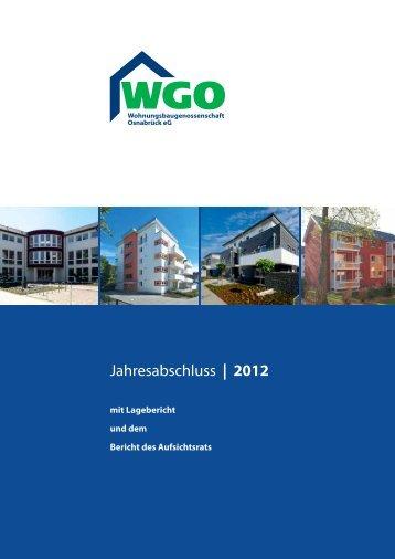 Geschäftsbericht 2012 - Wohnungsbaugenossenschaft Osnabrück eG