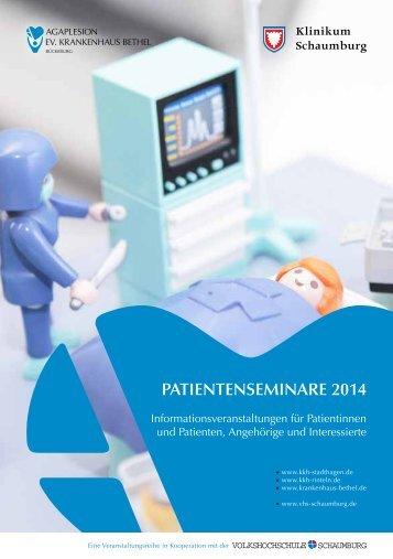 Patientenseminare 2014 - Krankenhaus Bethel Bückeburg