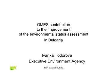 Ivanka Todorova Executive Environment Agency