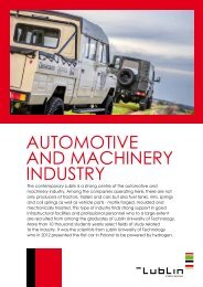 AUTOMOTIVE AND MACHINERY INDUSTRY - Lublin