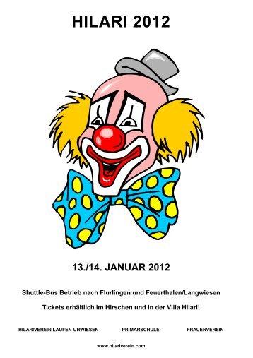hilari-friitig 13. januar 2012 - Hilariverein Laufen-Uhwiesen