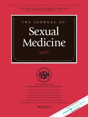thejournalof - 21st Congress of the World Association for Sexual ...