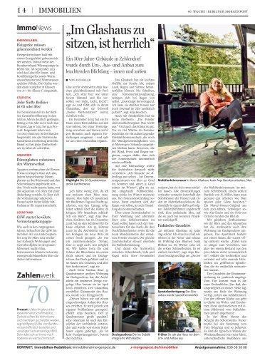 """Architektur: """"Im Glashaus zu sitzen, ist herrlich"""" - Anja Beecken ..."""