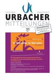 Urbacher Mitteilungsblatt vom 28.11.2013 - Gemeinde Urbach