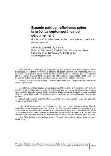 Espacio público: reflexiones sobre la práctica contemporánea del ...
