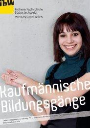 Broschüre Kaufmännische Bildungsgänge - ibW Höhere Fachschule ...