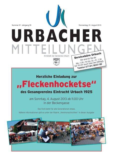 """""""Fleckenhocketse"""" - Gemeinde Urbach"""