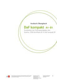 DaF kompakt A1 – B1 - Ernst Klett Verlag