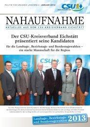 Der CSU-Kreisverband Eichstätt präsentiert seine Kandidaten